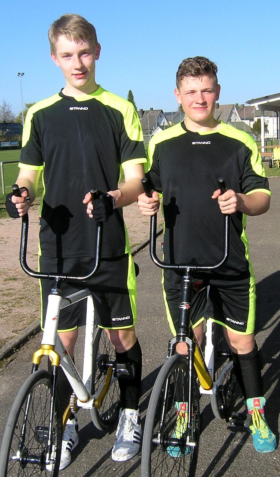 Moritz Gerndt (links) Und Patrick Richter Erreichen Das Finale Der Junioren (U19)